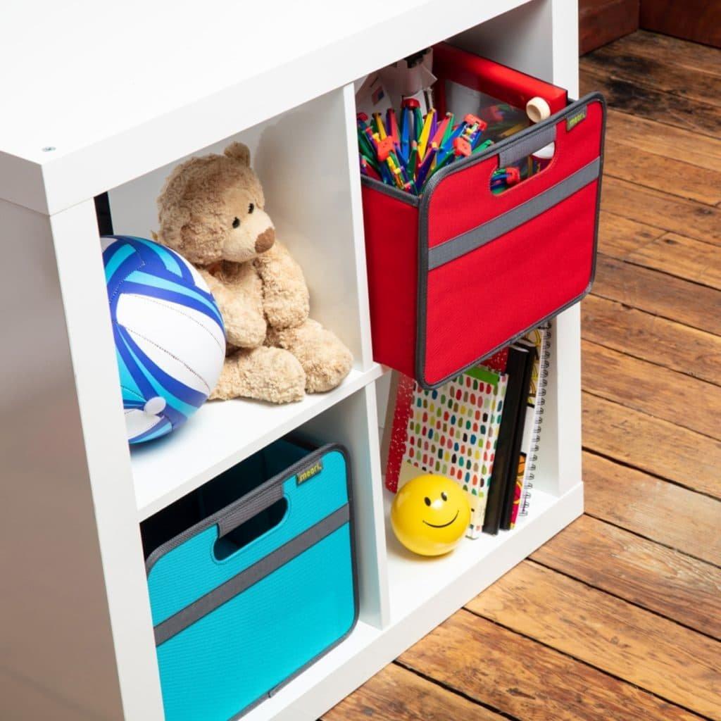 Small Storage Bins fit into Kallax IKEA shelves