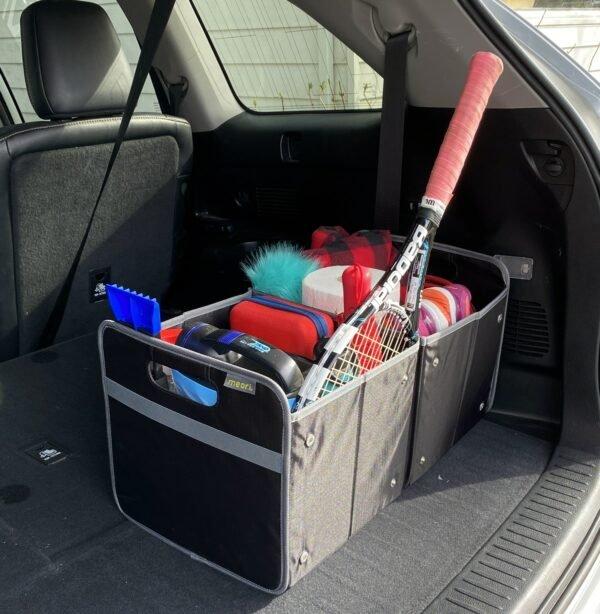 A100501 Trunk Organizers meori Foldable Box XL Lava Black Solid LST 7