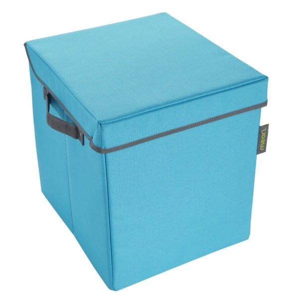 Azure Blue Storage Bin with Lid