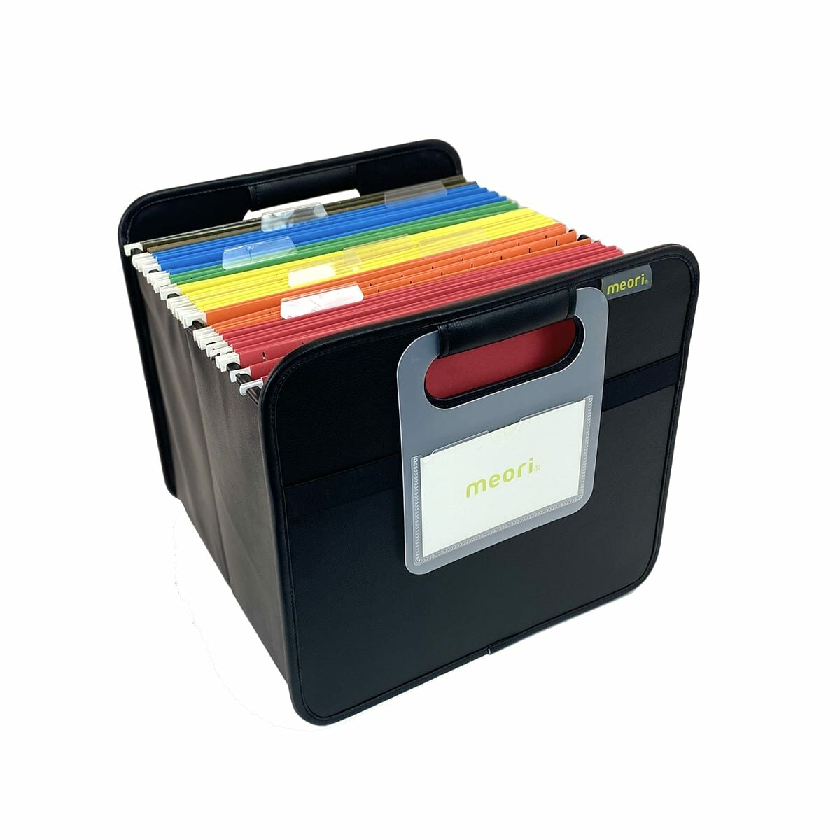 A100816 1 Foldable Box Office Letter PU Black Solid