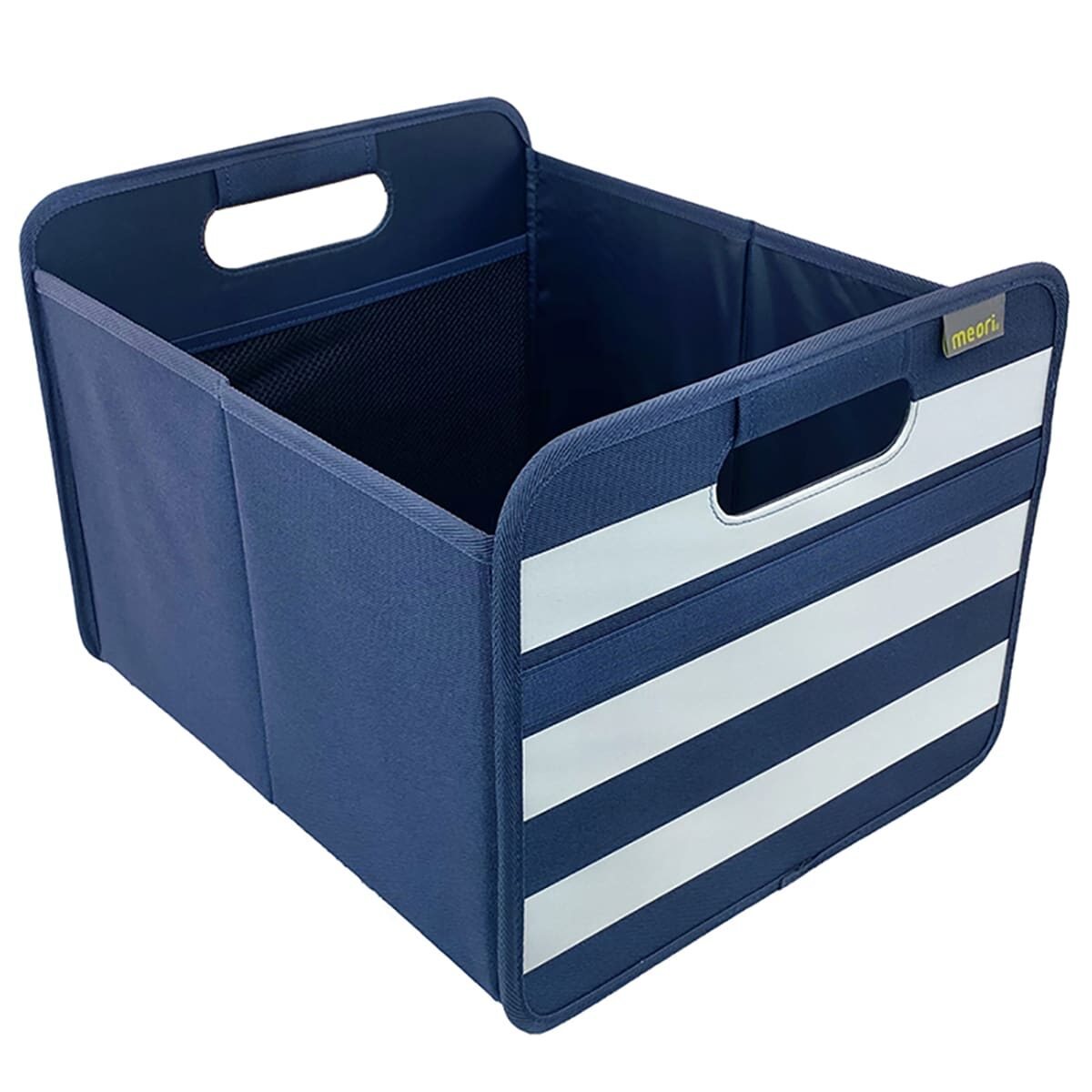 A100734 1 Storage Bins meori Foldable Box Medium Marine Blue Stripes 1