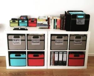 WFH office storage bins