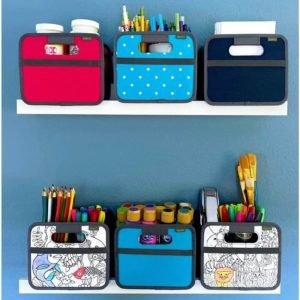 mini storage on wall shelf