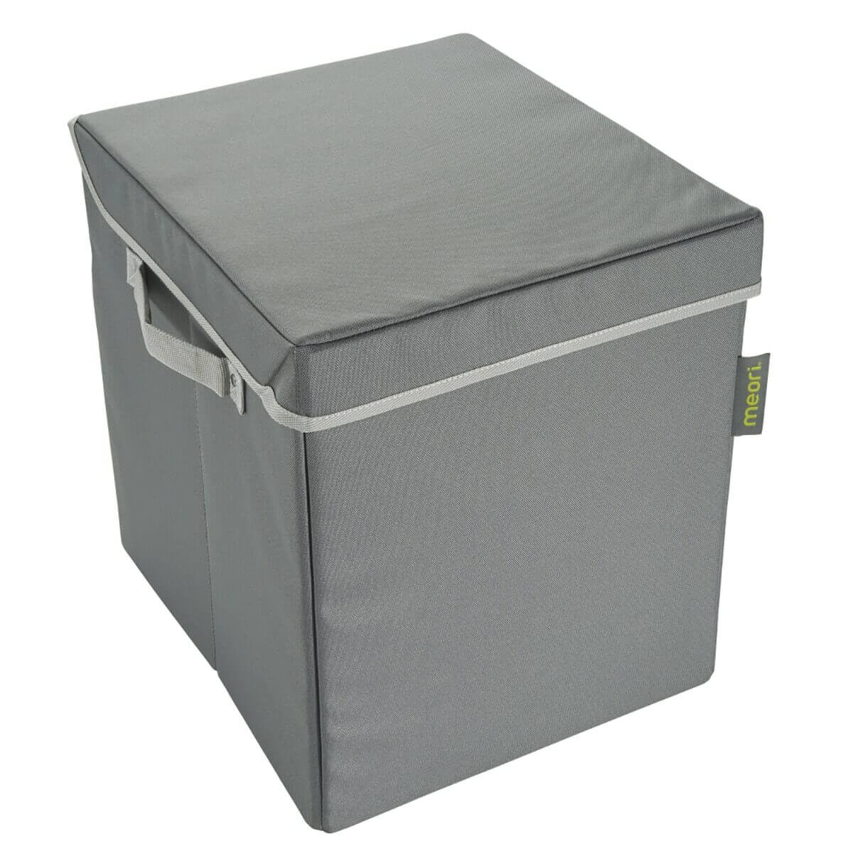 A100685 1 Storage Bin Small with Lid Granite Grey