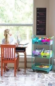 rolling cart for homeschooling