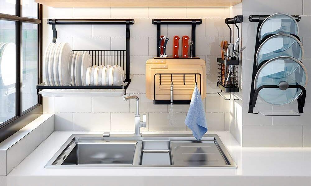 top wall mounted drying racks kitchen