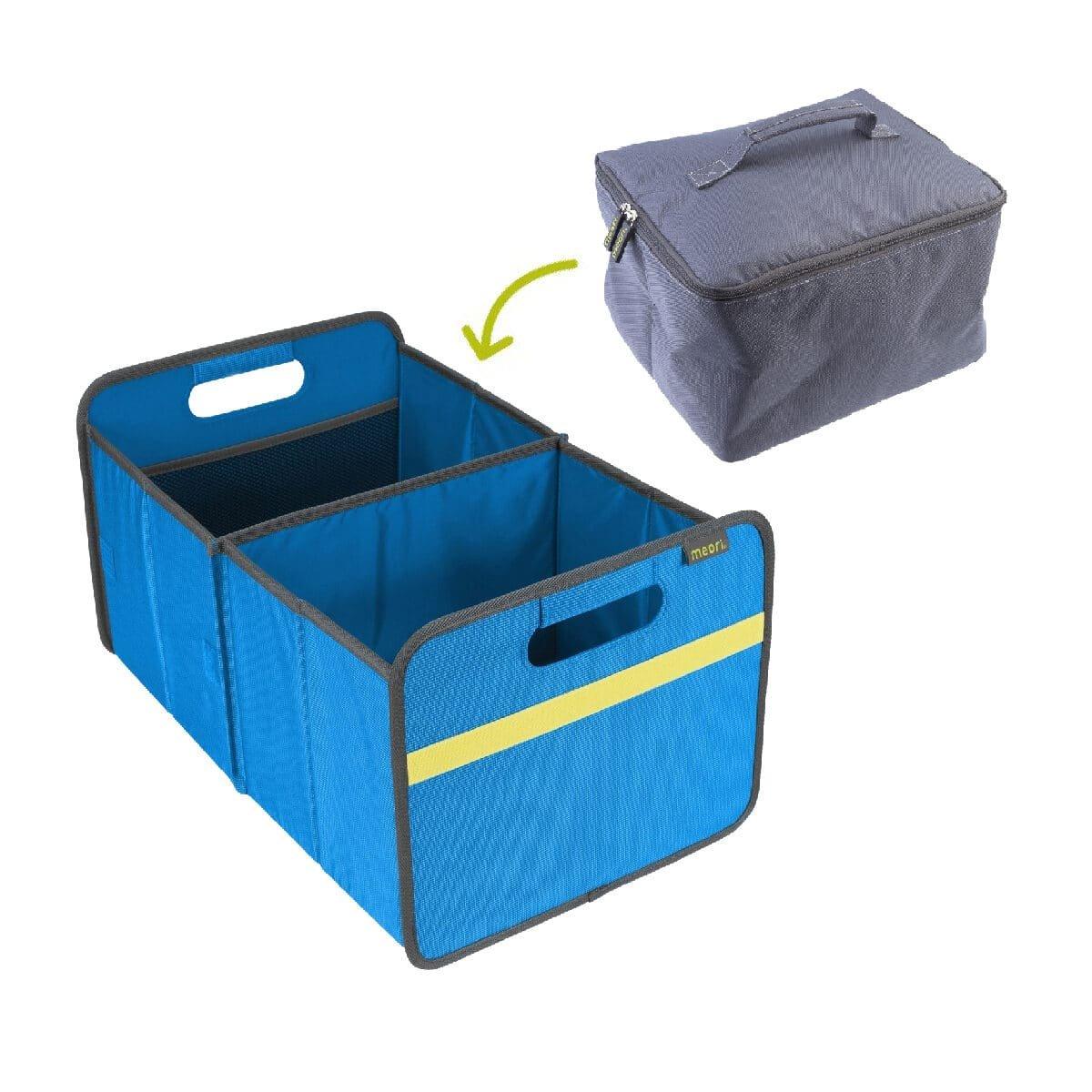 Premium Trunk Organizer Mediterranean Blue with Cooler Insert