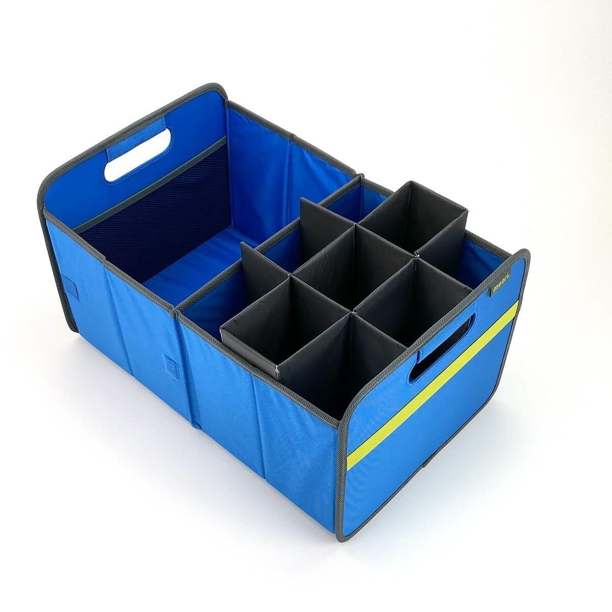 Premium Trunk Organizer in Mediterranean Blue Solid with Bottle Insert