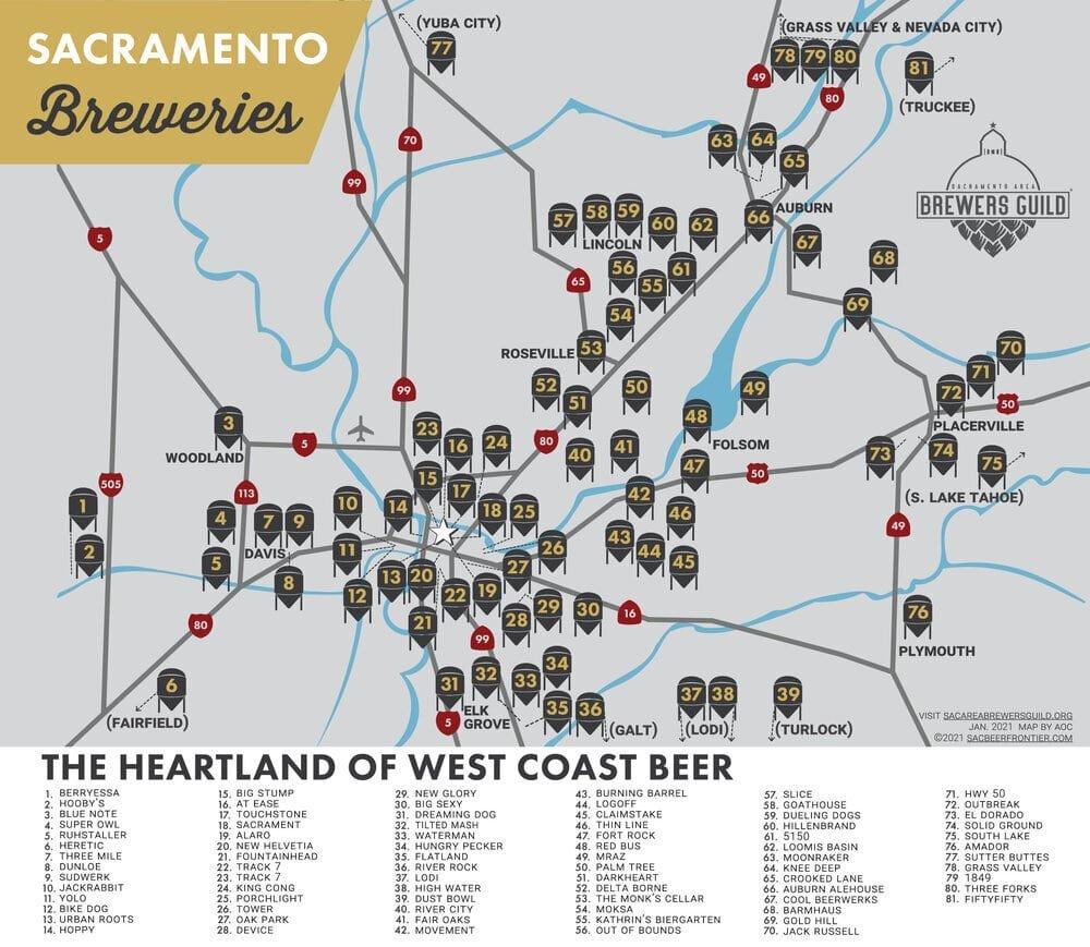 sacramento brewery map 1