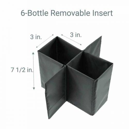 6 Bottle Wine tote Insert dimensions